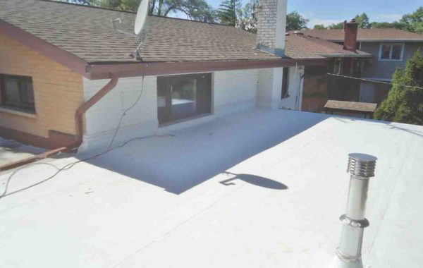 Replaced a Small Low-Slope (Flat) Roofing with TPO System – Project 13053140