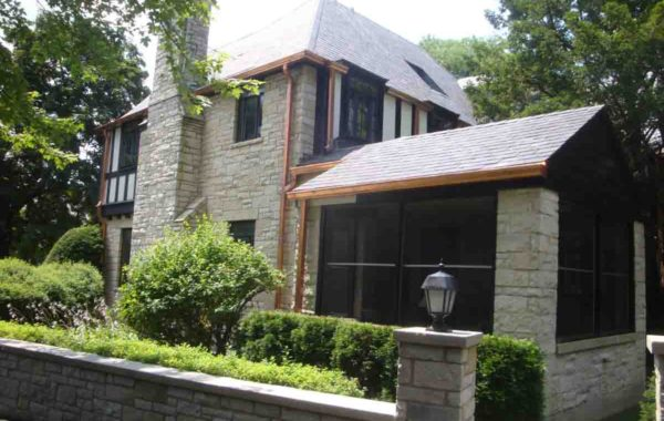 Replaced Copper Gutters Valleys at Slate Roof – Project 10050601
