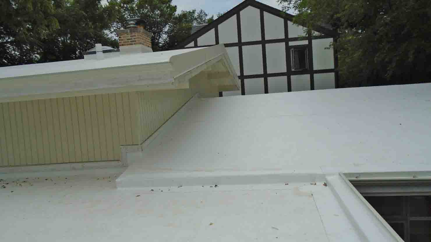 Low Slope Flat Tpo Roofing System Installed Right Over