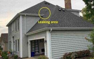 Fixed a hard to find leak where two sections of the roof connected – project 19092801