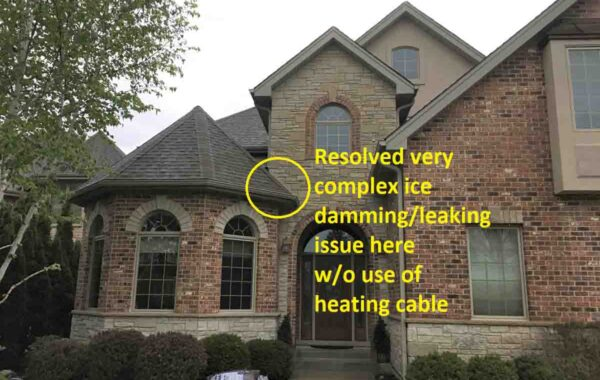 Resolved Complex Ice Damming Issue w/o Use of Heating Cable – Project 18041901